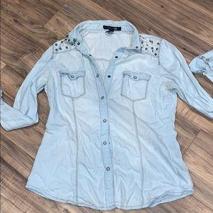 Denim button up shirt forever 21